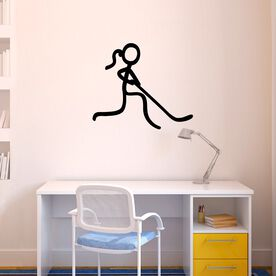 Hockey Stick Figure Girl Removable ChalkTalkGraphix Wall Decal