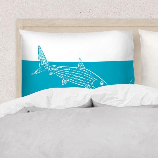 Fly Fishing Pillowcase - Bonefish Silhouette