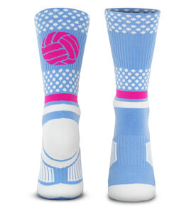 Volleyball Woven Mid-Calf Socks - Tropic Neon
