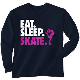 Figure Skating T-Shirt Long Sleeve Eat. Sleep. Skate.