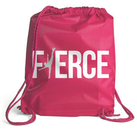 Figure Skating Sport Pack Cinch Sack - Fierce Figure Skater