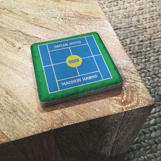Tennis Stone Coaster - Personalized Team