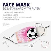 Soccer Face Mask - Soccer Ball Tie-Dye