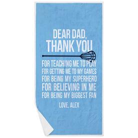 Guys Lacrosse Premium Beach Towel - Dear Dad