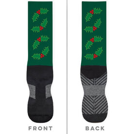 Printed Mid-Calf Socks - Holly
