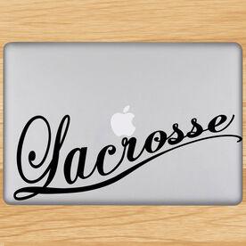 Lacrosse Cursive Removable LulaGraphix Laptop Decal