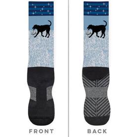 Figure Skating Printed Mid-Calf Socks - Axel The Figure Skating Dog