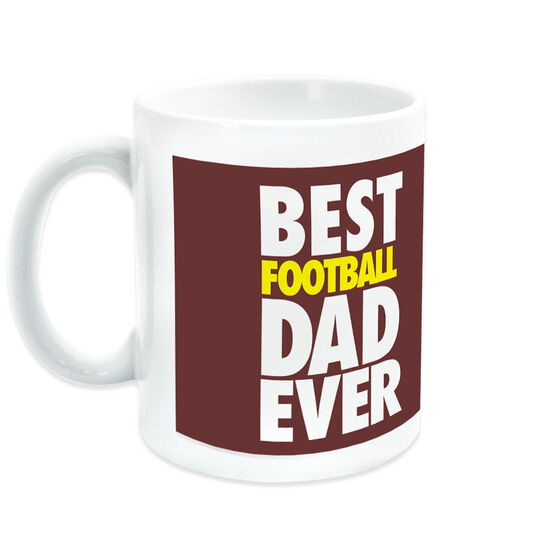 Football Coffee Mug Best Dad Ever