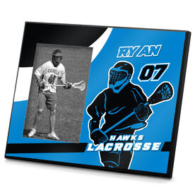 Lacrosse Personalized Photo Frame Personalized Lacrosse Player