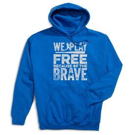 Baseball Hooded Sweatshirt - Because Of The Brave Baseball