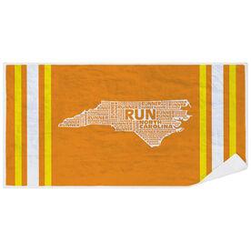 Running Premium Beach Towel - North Carolina State Runner