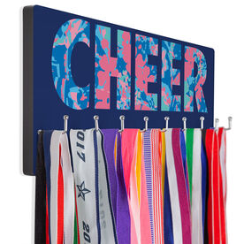 Cheerleading Hooked on Medals Hanger - Floral Cheer