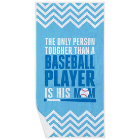 Baseball Premium Beach Towel - Tougher Than A Baseball Player