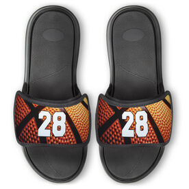 Basketball Repwell™ Slide Sandals - Custom Basketball Number
