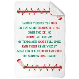 Hockey Sherpa Fleece Blanket - Jingle All The Way