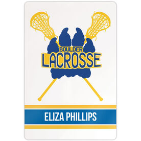 """Girls Lacrosse 18"""" X 12"""" Aluminum Room Sign Team Logo with Player Name"""