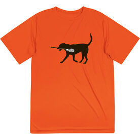 Guys Lacrosse Short Sleeve Performance Tee - Max The Lax Dog