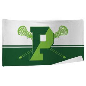 Beach Towel - Pentucket Youth Girls Lacrosse Logo