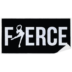 Figure Skating Premium Beach Towel - Fierce