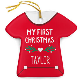 Personalized Porcelain Ornament - Baby's First Christmas