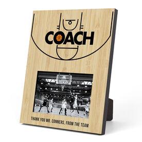 Basketball Photo Frame - Coach (Court)