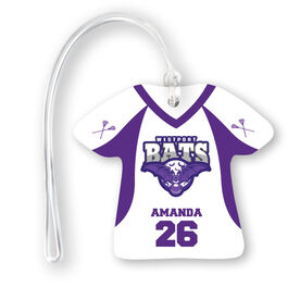 Girls Lacrosse Jersey Bag/Luggage Tag - Custom Team Logo