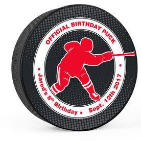 Personalized Player's Official Birthday Hockey Puck
