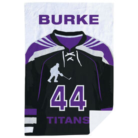 Hockey Premium Blanket - Personalized Jersey