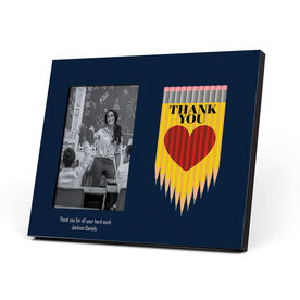 Personalized Teacher Photo Frame - Thank You Pencil Heart