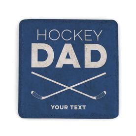 Hockey Stone Coaster - Personalized Hockey Dad
