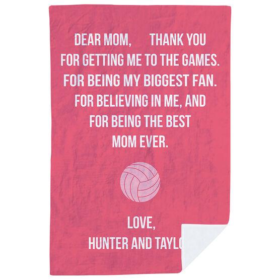 Volleyball Premium Blanket - Dear Mom Heart