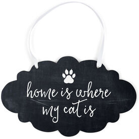 Cloud Sign - Home Is Where My Cat Is