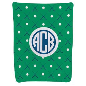 Field Hockey Baby Blanket - Field Hockey Pattern