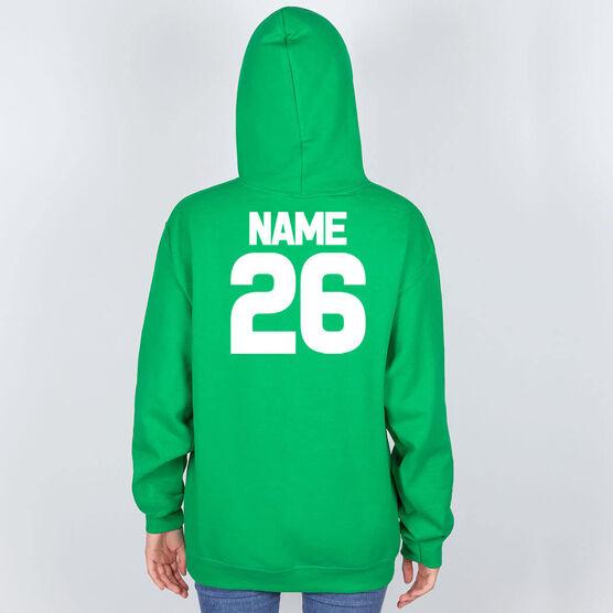 Field Hockey Hooded Sweatshirt - Neon Field Hockey Girl
