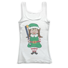 Softball Vintage Fitted Tank Top - Christmas Elf