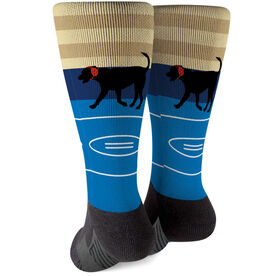 Wrestling Printed Mid-Calf Socks - Mat The Wrestling Dog