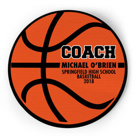 Basketball Circle Plaque - Coach Ball