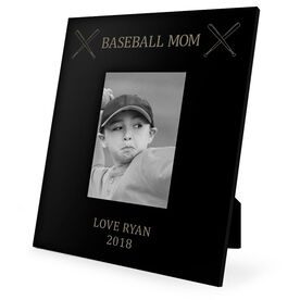 Baseball Engraved Picture Frame - Baseball Mom