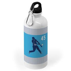 Baseball 20 oz. Stainless Steel Water Bottle - Personalized Batter