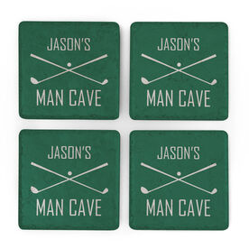 Golf Stone Coasters Set of Four - Man Cave