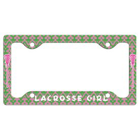 LACROSSE GIRL License Plate Holder