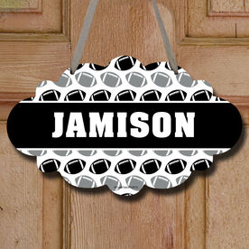 Football Cloud Sign Personalized Football Pattern