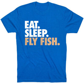 Fly Fishing T-Shirt Short Sleeve Eat. Sleep. Fly Fish.