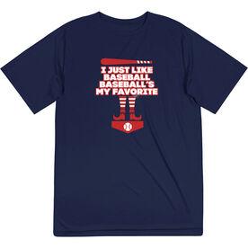 Baseball Short Sleeve Performance Tee - Baseball's My Favorite