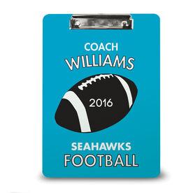 Football Custom Clipboard Personalized Football Coach