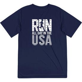 Men's Running Short Sleeve Tech Tee - Run All Day In The USA