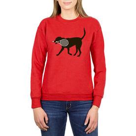 Tennis Crew Neck Sweatshirt - Tanner the Tennis Dog
