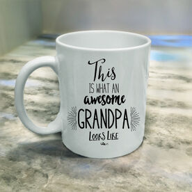 What An Awesome Grandpa Looks Like Personalized Coffee Mug