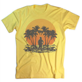 Guys Lacrosse Vintage T-Shirt - Chill Lax Sunset