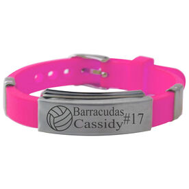 Personalized Volleyball Ball Silicone Bracelet